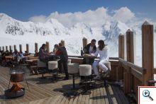 Berghütten und Schirmbars in Obergurgl